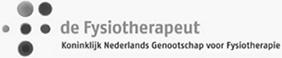 de Fysiotherapeut Koninklijk Nederlands Genootschap voor Fyiotherapie